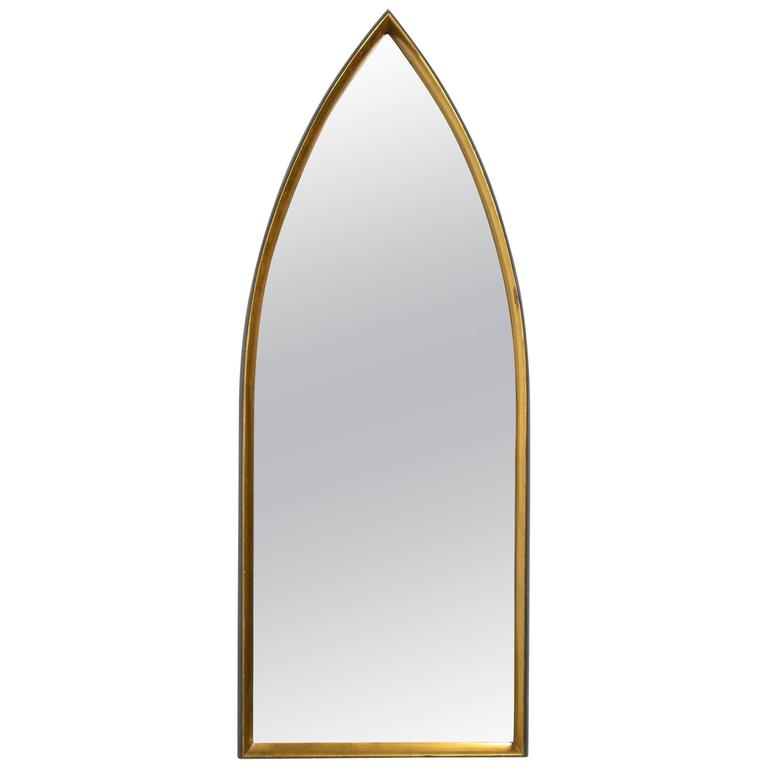 1960s Arched Top Italian Gilt Mirror