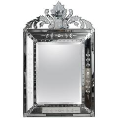 Venetian Mirror with Crown