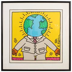 Keith Haring Numbered  Lithograph