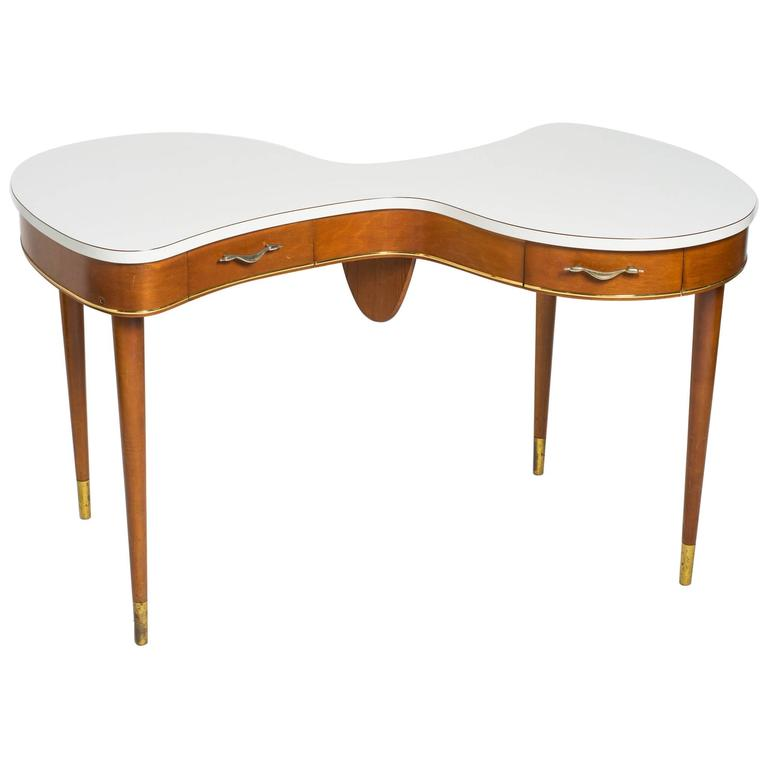 1940s French Organic Shaped Desk