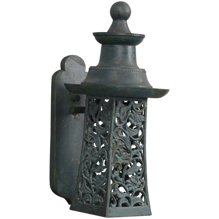 Charming Cottage Style 1920s Exterior Wall Lantern