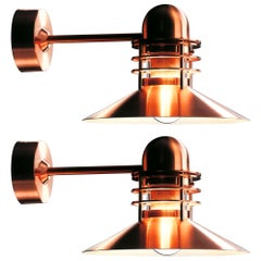 Louis Poulsen 'Nyhavn' Copper Outdoor Wall Sconce