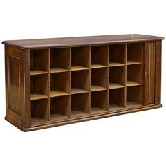 Victorian Hotel Pigeonhole Tambour Cabinet Tabletop Mail Slot Credenza Boho Chic