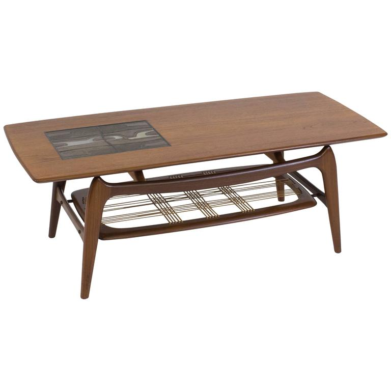 Funky mid century modern coffee table by louis van teeffelen for webe 1960s at 1stdibs Funky coffee table
