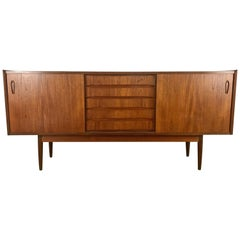 Classic Danish Modern Credenza/Sideboard, Figured Walnut, Arne Vodder