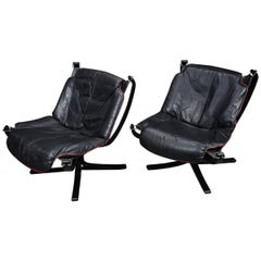 Pair of Lowback Lounge Chair from Sigurd Resell Vatne Mobler, Norway