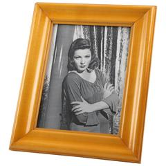 Varnished Sycamore Picture Photo Frame, France, circa 1940s Hollywood Regency