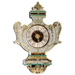 Fanciful Eglomise Electric Wall Clock