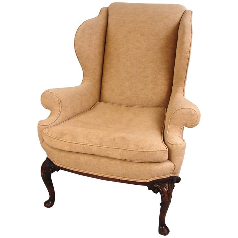 georgian style upholstered wingback armchair for sale at. Black Bedroom Furniture Sets. Home Design Ideas