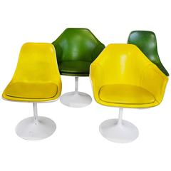 Set of Four Saarinen Style Tulip Chairs