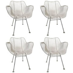 Set of Four Woodard Sculptura Garden Patio Chairs