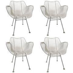 Set of Four Woodard Sculptura Garden Patio Chairs