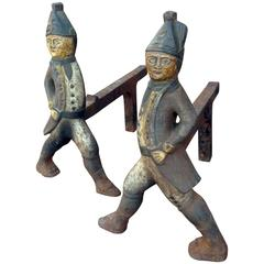 Folk Art Andirons