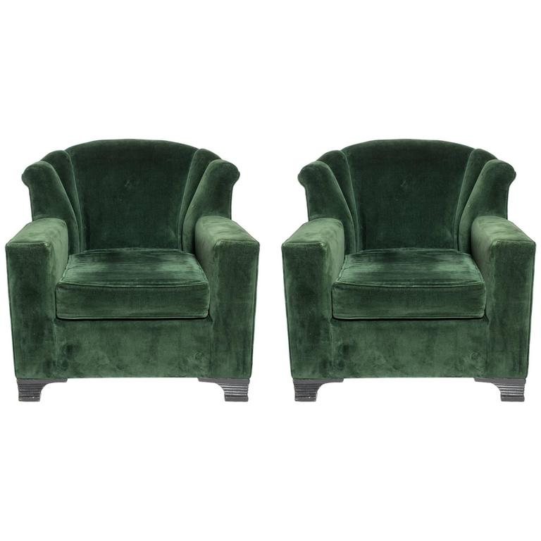 Pair of 1930s art deco lounge chairs for sale at 1stdibs for 1930s chaise lounge