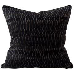 Vintage Black and Gold Embroidery Cushion