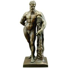 Very Good 19th Century 'Grand Tour' Desk-Top Bronze of the Farnese Hercules