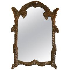 Large Silver Gilt Carved Wood Mirror by Labarge