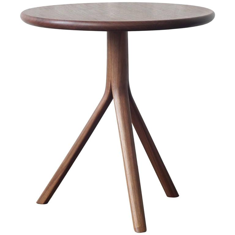 T07 Contemporary Side Table with Steam Bent Legs by Jason Lewis Furniture For Sale