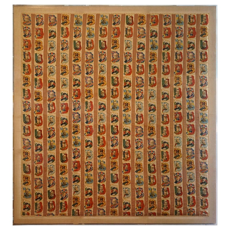 Imperial Tobacco Company of Canada Silk Trading Cards Quilt Mounted on Canvas