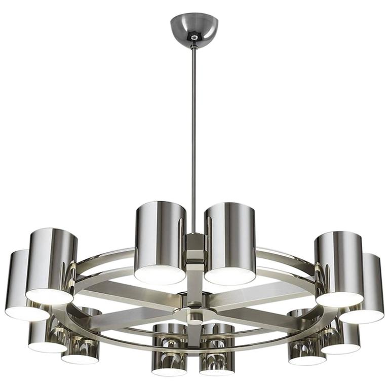 Roue A Spots, Chandelier Made in France by Charles Paris