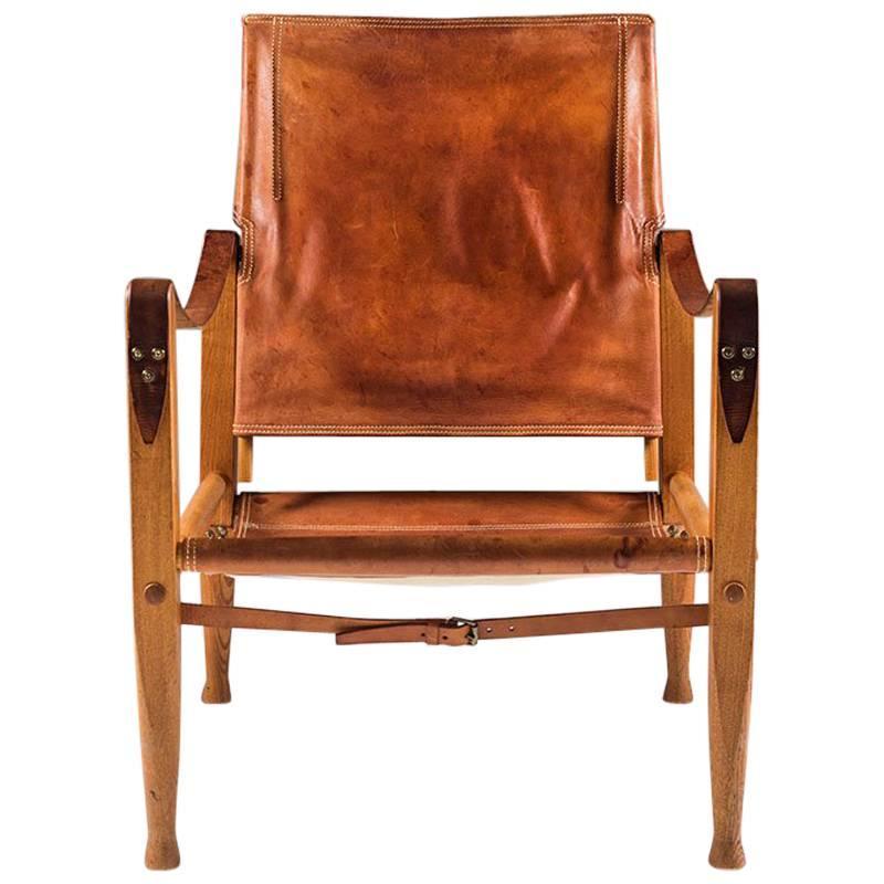 Safari Chair by Kaare Klindt in Cognac Leather