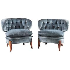 Pair of Scandinavian Mid-Century Easy Chairs by Otto Schulz