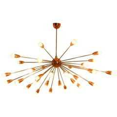 Very Beautiful Sputnik Lamp Chandelier from the 1960s