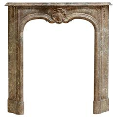 Beautiful Petite Marble Régence Style Fireplace Mantel