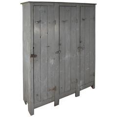 Vintage Industrial Grey Lockers