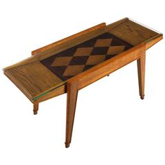 1940´s Coffee Table, oak, mahogany and oak marquetry - France