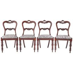 Fine Set of Four Victorian Rosewood Dining Chairs