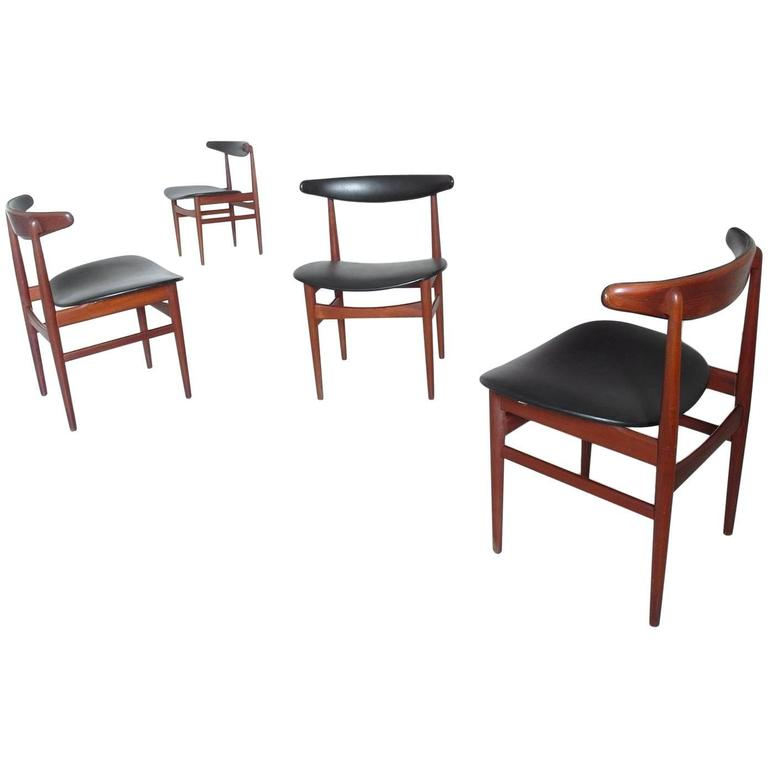 Remarkable Danish Modern Dining Chair Set Attributed Poul Hundevad For Beatyapartments Chair Design Images Beatyapartmentscom