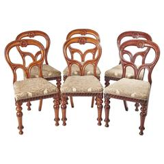 Outstanding Quality Set of Six Scottish Mahogany Dining Chairs