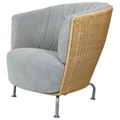 French Design Wicker Armchair, Largo, by Thibault Desombre