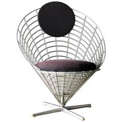 Wire Cone Lounge Chair by Verner Panton for Plus Ligne