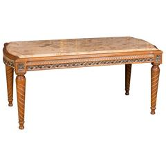 High Quality Table with Marble Top in Louis Seize Style