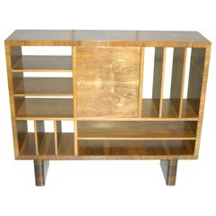 Art Deco Bookshelf, Bar or Room Divider Walnut