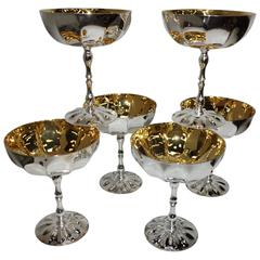 Set of 6 -  24-Karat Gold-Plated Ice Cups and Silver Plated