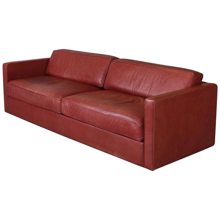 Large Two-Seat Leather Sofa by Walter Knoll