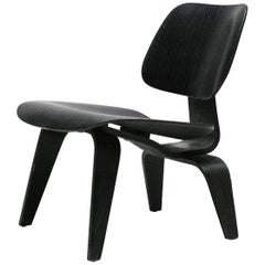 Charles Eames Black Aniline LCW Chair