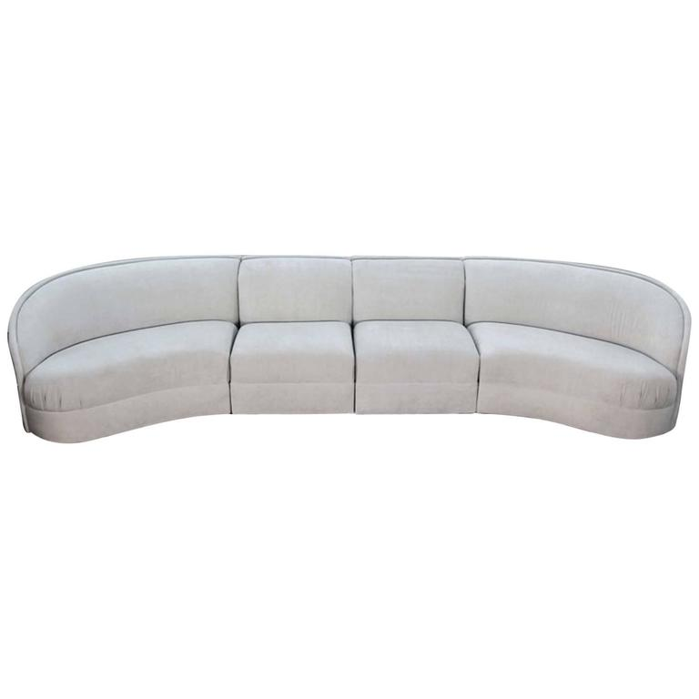 Large Curved Modern Sofa