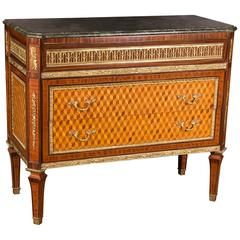Beautiful Elegant Chest of Drawers with Marble Top in Louis Seize Style