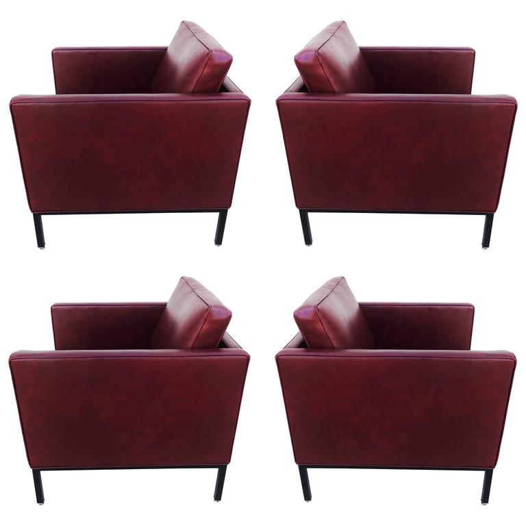 Set of Four Lounge Chairs, 1970s