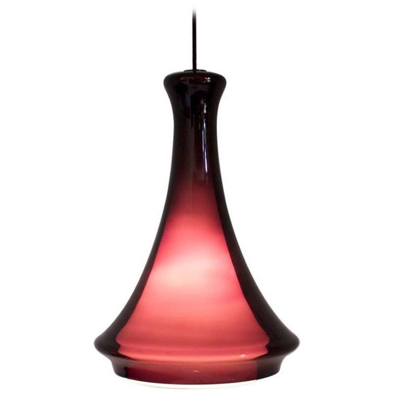 Jo Hammerborg Glass Pendant for Fog & Morup, 1970s