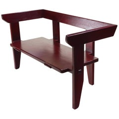 Laredo Bench Contemporary Design Traditional Joinery, Hardwood w/ lacquer finish