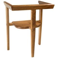 Aerofina Armchair, Contemporary Three Legged Chair with Mortise-Tenon Joinery