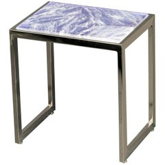 Hyaline Violet Quartz Side Table by Giuliano Tincani, Made in Italy