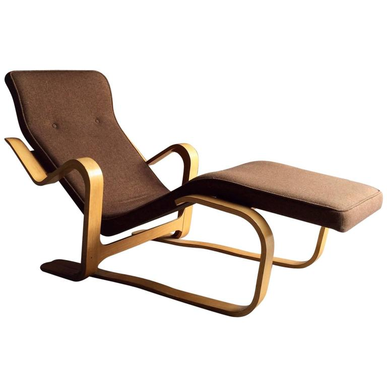 Marcel Breuer Long Chair Chaise Longue Mid-Century, 1970s Bauhaus No. 2 For S...