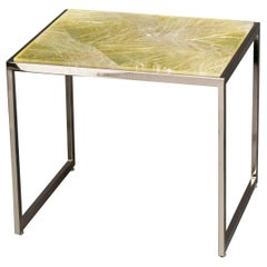 Hyaline Yellow Quartz Side Table by Giuliano Tincani, Made in Italy