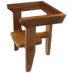 Laredo armchair, 3 legged contemporary ergonomic design w/traditional joinery.